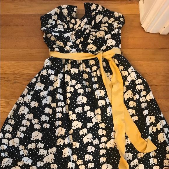 Anthropologie Dresses & Skirts - Anthropologie Porridge elephant strapless dress